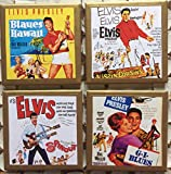 Coasters! Elvis Movie poster coasters with gold trim