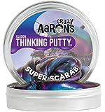 【 光加減で色の見え方が変わる!シリコン製パティ 】 Crazy Aaron's Putty World シンキングパティ Super Illusions シリーズ EU安全規格適合 内容量90g レギュラーサイズ Made in USA 日本正規代理店品 【 スーパー・スカラブ 】 SC020