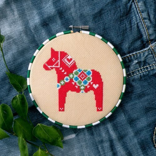 - Dala Horse Cross Stitch Pattern - Chart Only