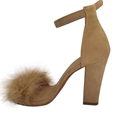 f017f3df51a9cd Hoher Absatz Sandalen Damen Sommer Btruely Plattformen Schuhe Mode Sandalen  Starke Ferse Schuhe Böhmen Schuhe Damen