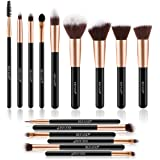 Refand Makeup Brushes Premium Makeup Brush Set 15 Pcs Professional Makeup Kit Rose Gold Black