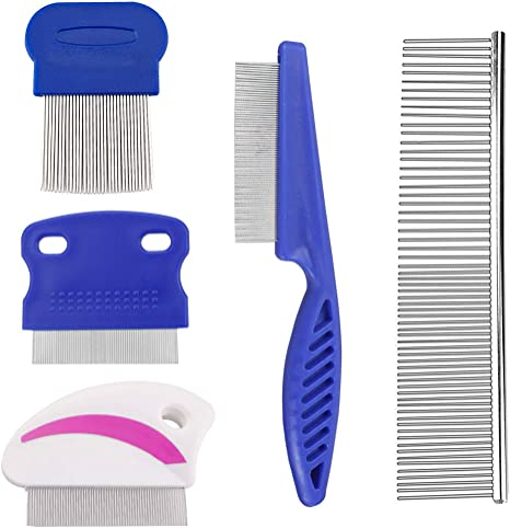 5 pack dog Grooming Comb