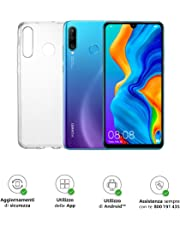 "Huawei P30 Lite (Blue) Smartphone + cover trasparente, 4GB RAM, memoria 128 GB, Display 6.15"" FHD+, Tripla fotocamera posteriore da 48+8+2 MP, fotocamera anteriore 24 MP [Versione Italiana]"
