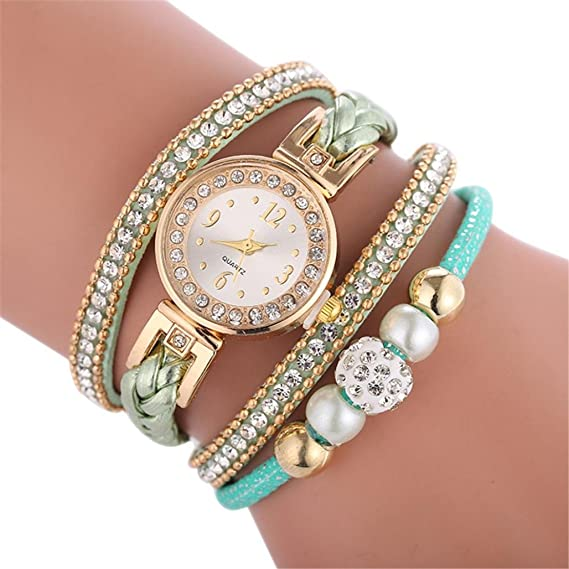 Fashion watches for women Diamond inlay beautiful Bracelet Watch Round bracelet Watch,GINELO (Green