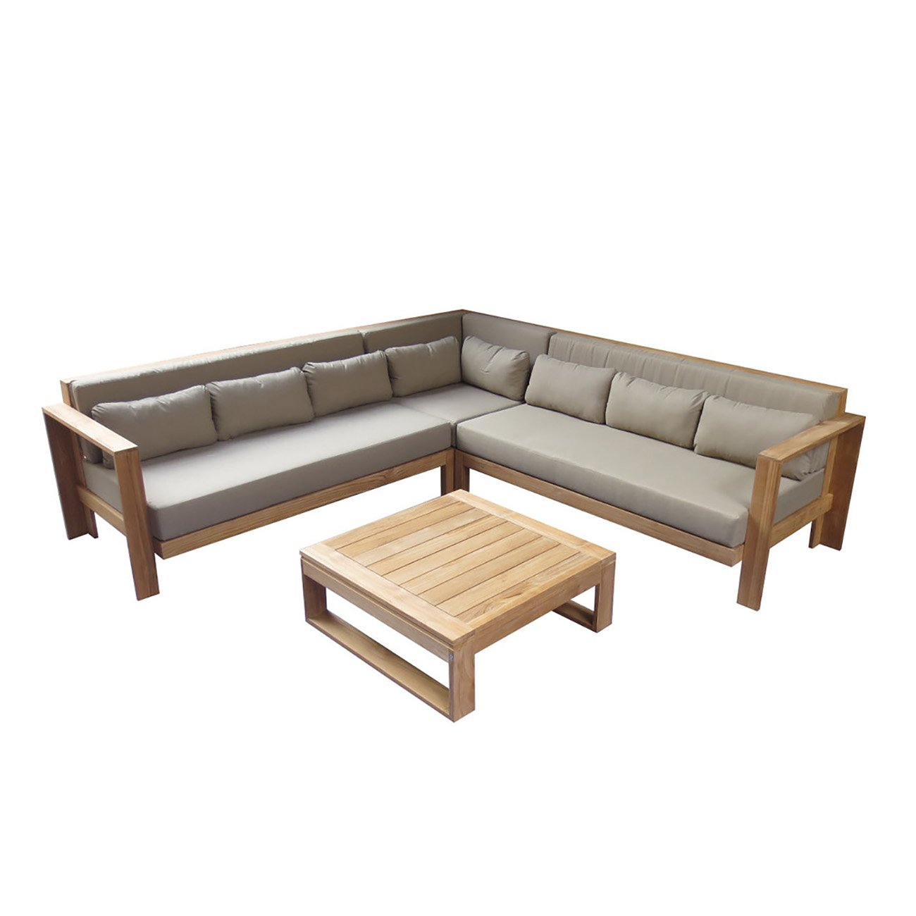gartenlounge outliv triest 3 tlg gartenm bel teakholz outdoor loungem bel lounge set g nstig kaufen. Black Bedroom Furniture Sets. Home Design Ideas