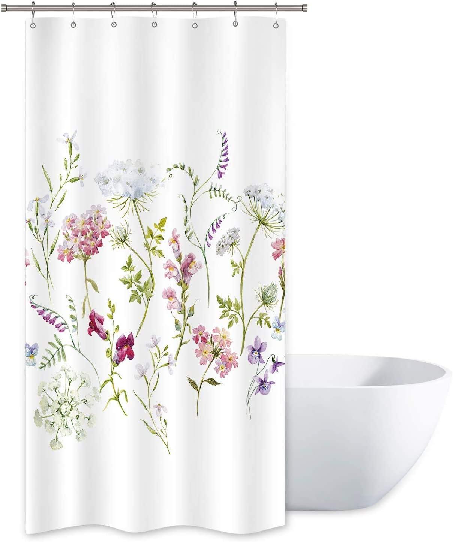Riyidecor Herbs Floral Plants Shower Curtain 36