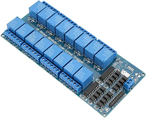 16 Channel Relay Board with Optocoupler Protection Low Level Trigger Low level 12V