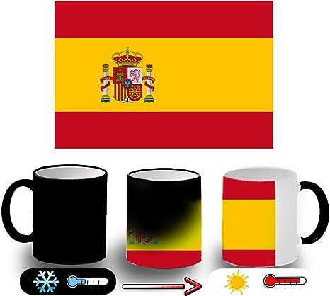 MERCHANDMANIA Taza MÁGICA Bandera ESPAÑA Pais Unido Magic mug: Amazon.es: Deportes y aire libre