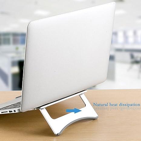 Mesa Ordenador Portatil, Base Ajustable y Plegable, Soporte de Ratón para Notebook PC Laptop