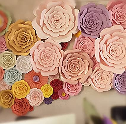 Pinkdose Giant Paper Flowers Large Artificial Rose Flower Photography Props Light Blue 20cm