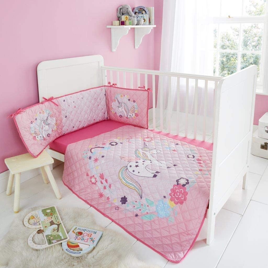 BUNNY MOON Style Spot Premium Bedsheet Coverlet New Bedspread//Bumper Set For Children Nursery Baby Bedding Set Soft Breathable Cotton Bed
