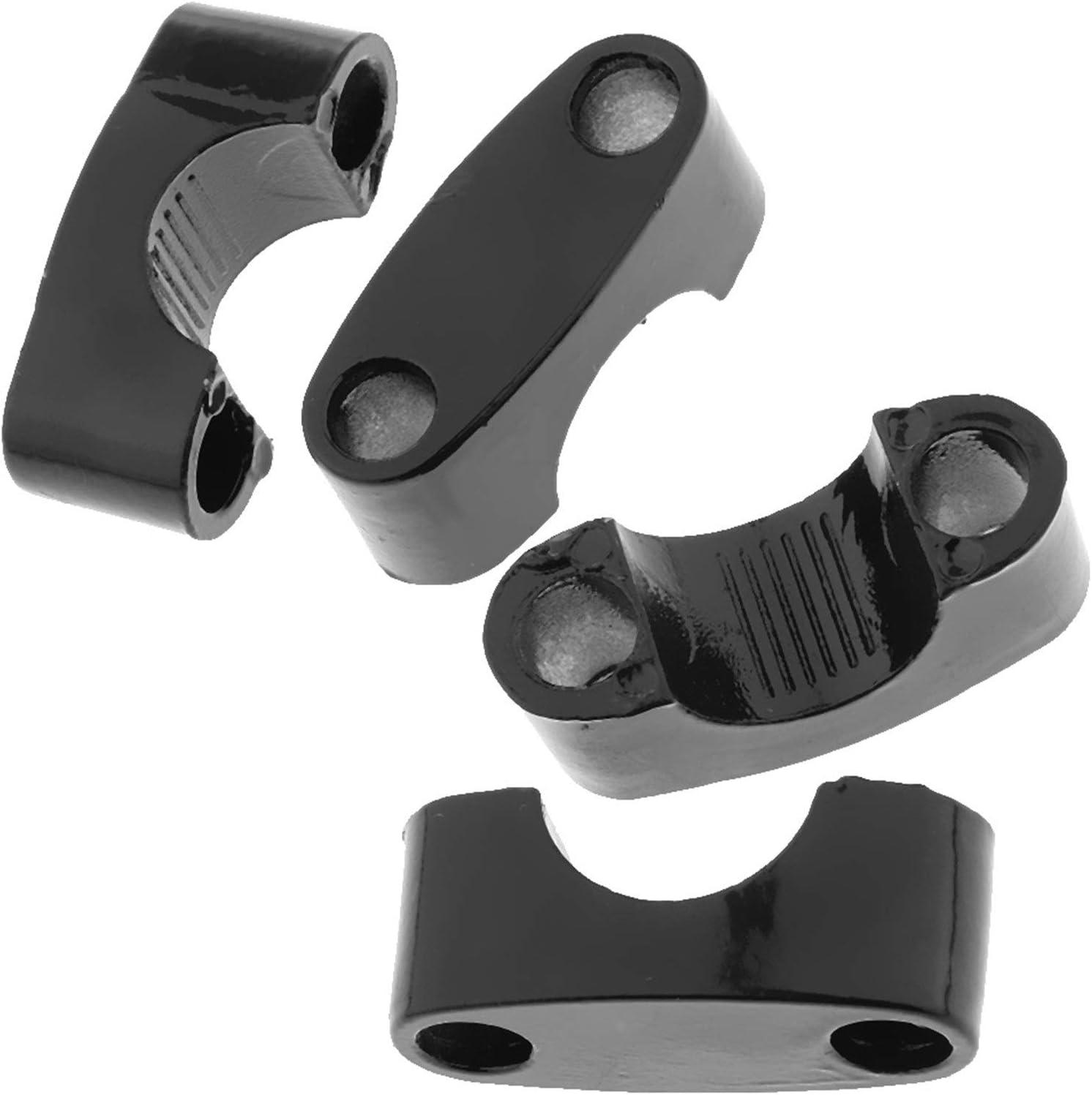 22mm CNC Aluminium Universal-Lenkerhalter Riser Zangenadapter gepasst for Motorrad-Buggy schwarz 4er Set Lenkerklemmung Adapter