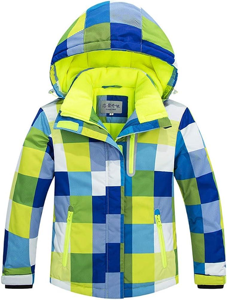 Pantaloni 2 pz Impostare LSERVER Bambini Inverno Caldo Cappuccio Snowsuit Bambino Infante Antivento e Impermeabile /& Snowproof Giacca da Sci