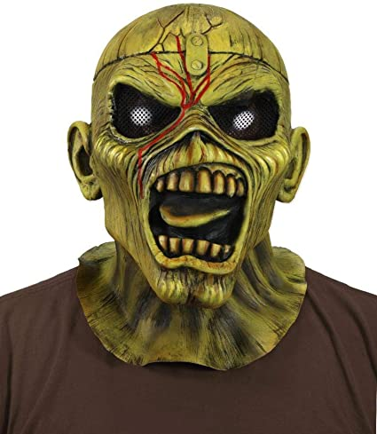 Iron Maiden Somewhere In Time Eddie Latex Costume Horror Halloween Mask Official