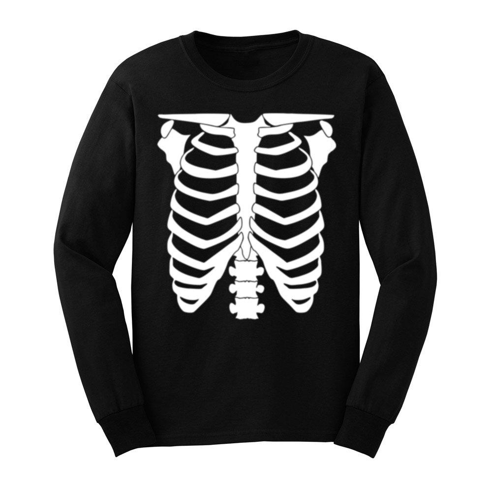 Loo Show Halloween Skeleton Funny Rib Cage T Shirts Casual Tee