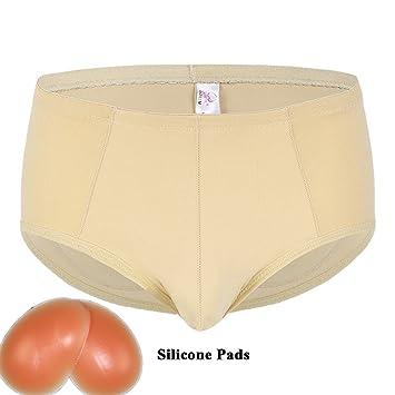 Acolchado Nalgas Slips Pantalones De Elevación Cadera Hacer Subir Hombres Ropa Interior,B,S