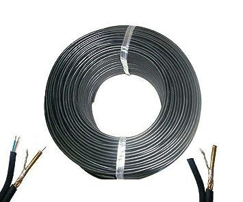 Topolenashop - Bobina de Cable de vídeo coaxial RG59 + 2C + ...