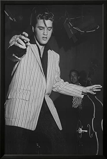 Elvis presley white jacket music poster print framed poster 26 x 38in