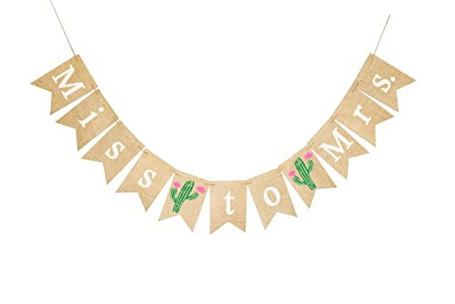 Cactus and Bridal Shower banner