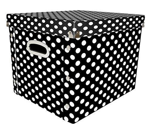 Snap-N-Store Select Storage Box, 14.8 x 11 x 13 Inches, Black/White Polka Dot (SNS01958)