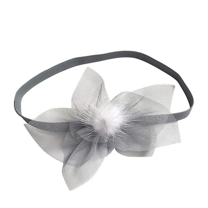 Baby Girls Staron Baby Girl Large Flower Elastic Hairband Headband Headwear