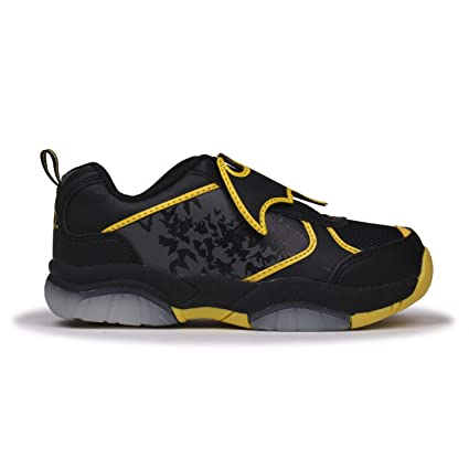 9a6c324e26 Batman Light Up Flash Trainers Black/Yellow Sneakers Trainer Shoes Footwear  (UK2) (