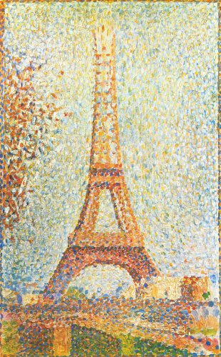 The Eiffel tower-Seurat - CANVAS OR WALL ART PRINT