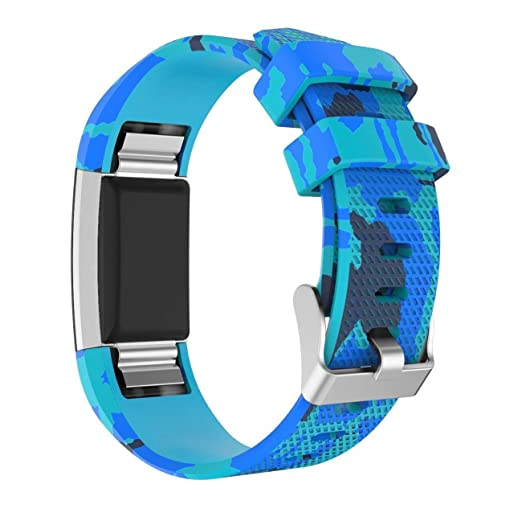 Fitbit Charge 2 pulseras, Hongtianyuan silicona ajustable para deportes reloj de pulsera pulsera para Fitbit Charge 2 Smart Watch armbander (Style C): ...