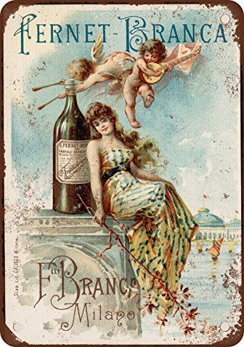 Branca Fernet 1889 Fernet Branca Liqueur Vintage Look Reproduction Tin Sign 12x18 Inches 2 Branco Name Branka Cubicle Gift Snuff Peanuts Poster Harry Sandwich Smiths Posters Mississippi Small ()