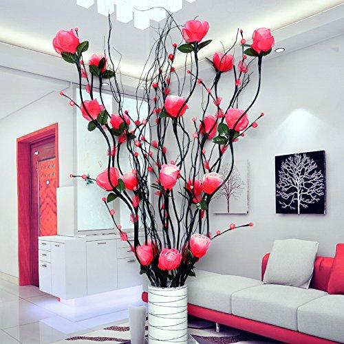 Venas flores secas sala de estar decoradas flores flores de seda ...