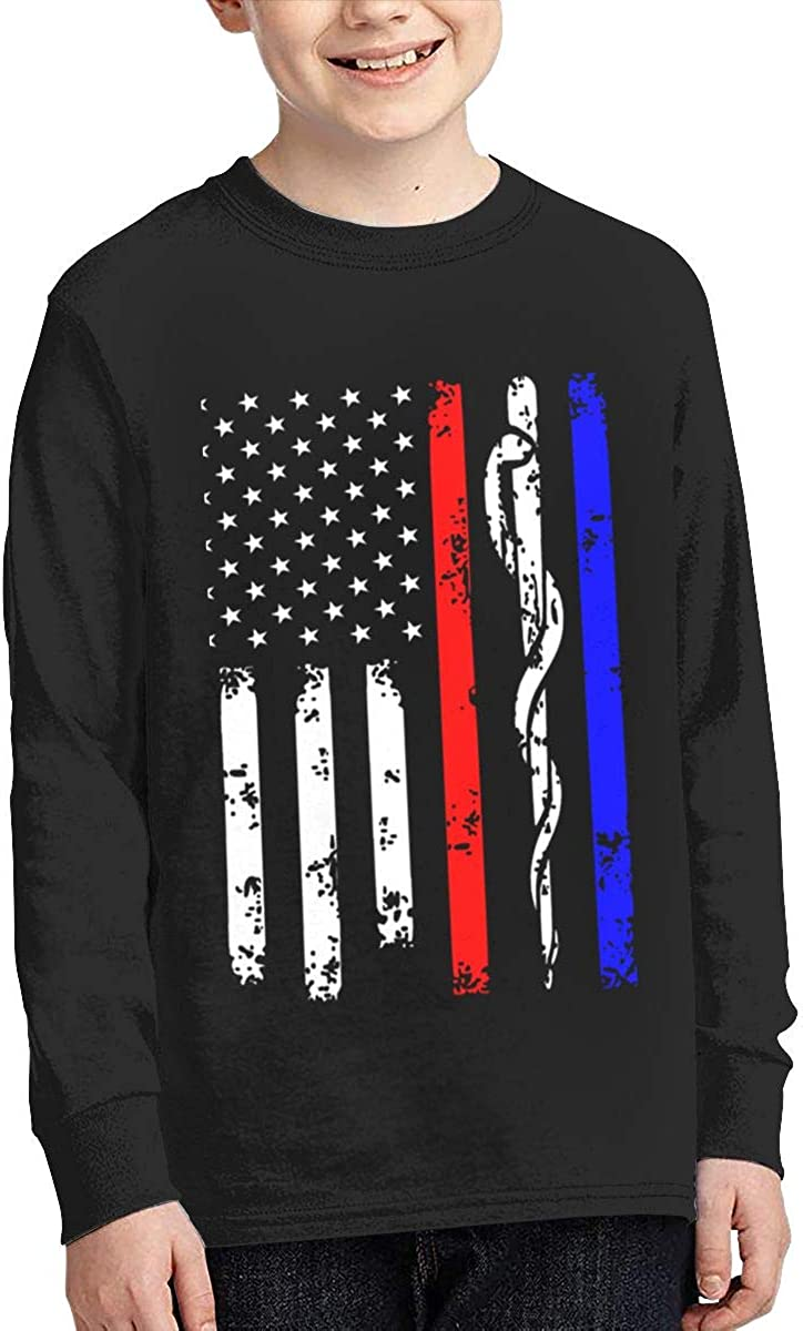 Onlybabycare Police /& Firefighter /& EMT Flag Youth Boy Girl Moisture Pullover Sweatshirt Active Shirt