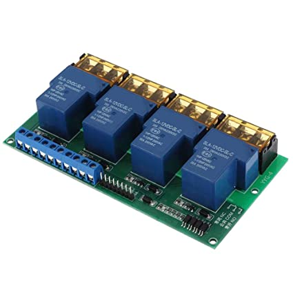 5V 12V Keenso 8-Kanal-Relaismodul-Relaiskarte mit Low-Level-Optokoppler-Erweiterungskarte f/ür Arduino 5V 24V