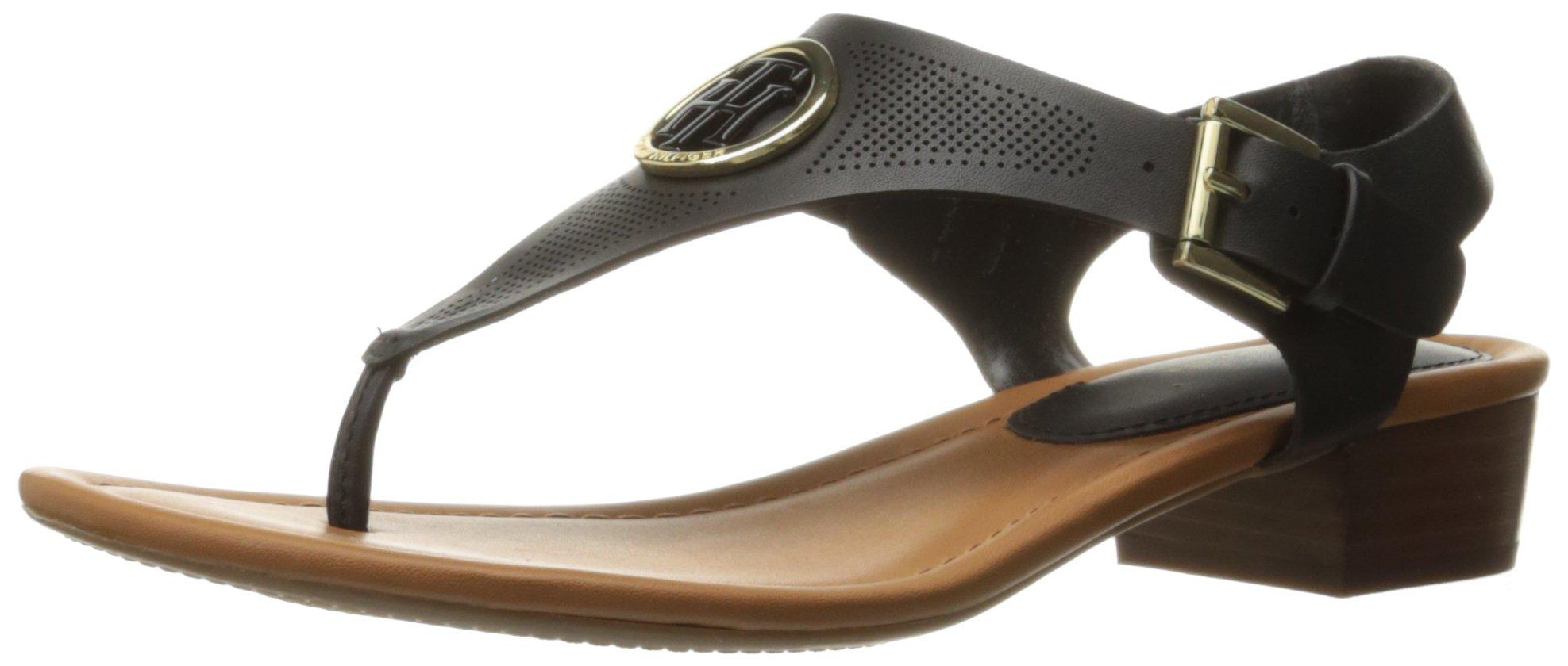 Tommy Hilfiger Women's Kandess Dress Sandal, Black, 8.5 M US