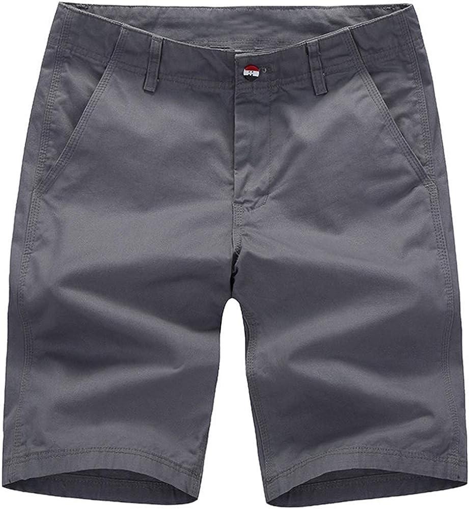 Pau1Hami1ton Mens Slim-fit Chino Flat-Front Cargo Shorts 10 Inseam PH-18