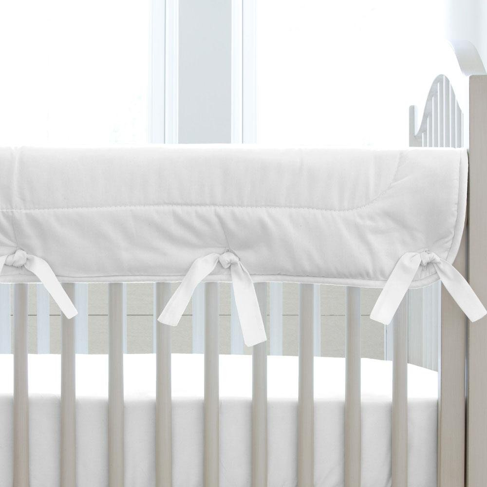 Carousel Designs Solid White Crib Rail Cover by Carousel Designs
