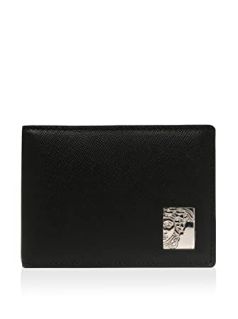 9c705f249ef Versace Men's Leather Wallet, Black: Amazon.in: Bags, Wallets & Luggage