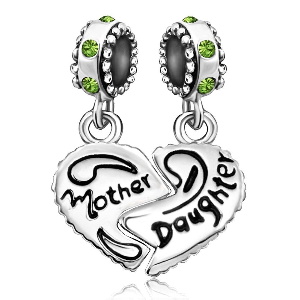 JMQJewelry Mom Mother Heart Daughter Charms Jan-Dec Dangle Bead Bracelets B07BHKPWJ6_US