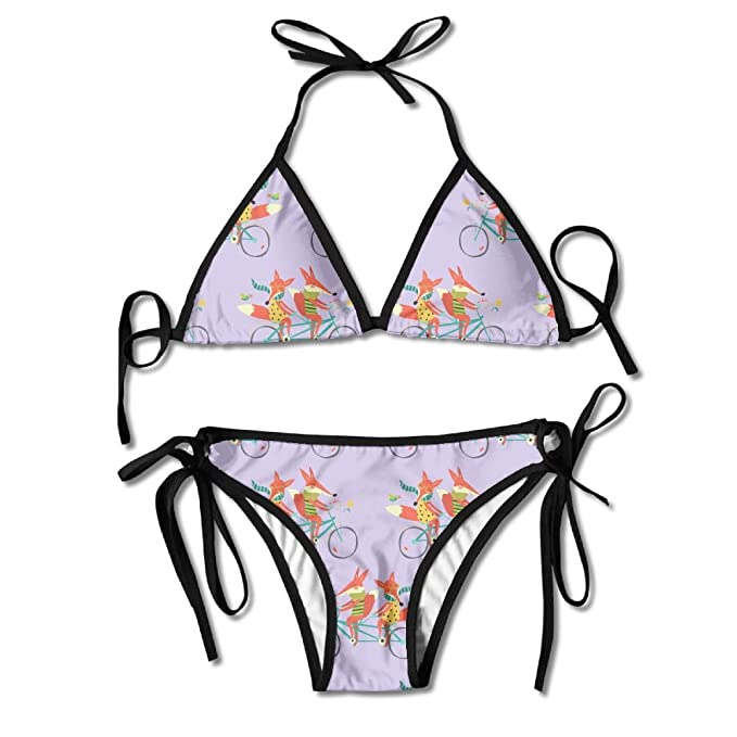dc61714f416b Amazon.com  Fox Cycling Women s Summer Swimwear Bikinis Swimsuit Sexy  2-Piece Set  Clothing