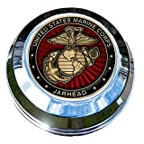 MotorDog69 Indian Gas Cap Coin Mount Set with Marine Jarhead for Chieftain, Chief Classic, Chief Vintage, Dark Horse, Roadmaster, Scout…
