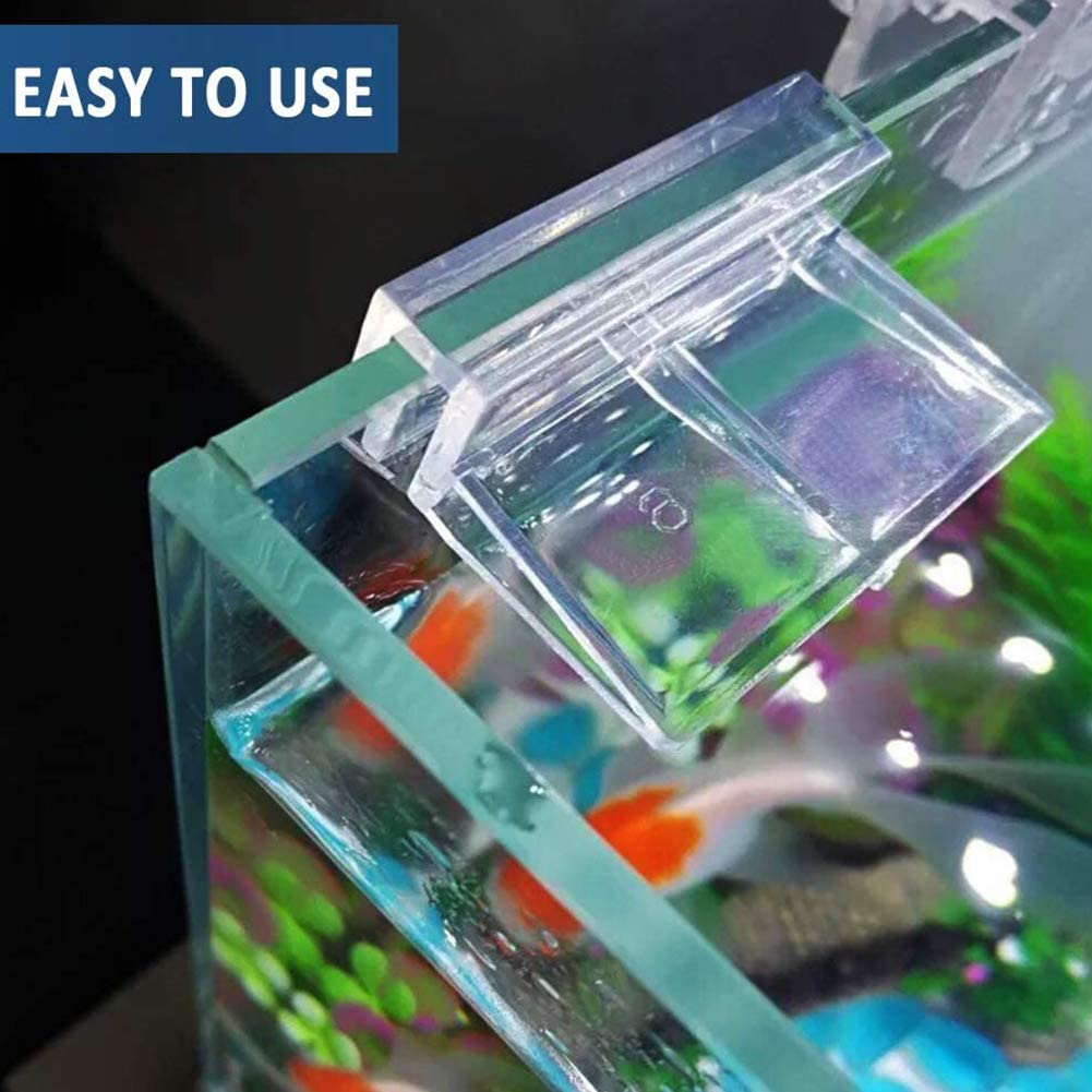 YUIP 8 Pcs Fish Tanks Glass Cover Clip Transparent Fish Tank Lid Holder Support,12mm Aquariums Fish Tank Acrylic Clips Glass Cover Support Holders Universal Lid Clips for Rimless Aquariums