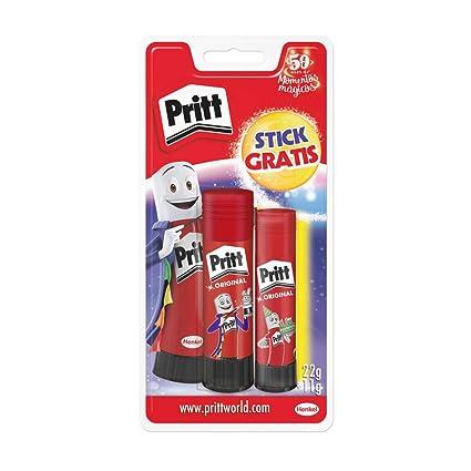Pritt Barra Adhesiva, pegamento infantil seguro para niños para hacer manualidades, cola universal de adhesión fuerte para estuche y oficina, 1x11 gy ...