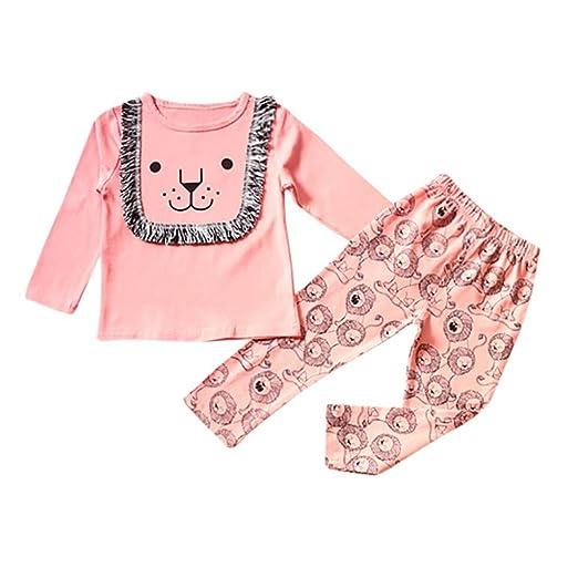 2PC Toddler Kids Baby Boys Girls Pajamas Cartoon Dinosaur Tops+Pant Colorful Set