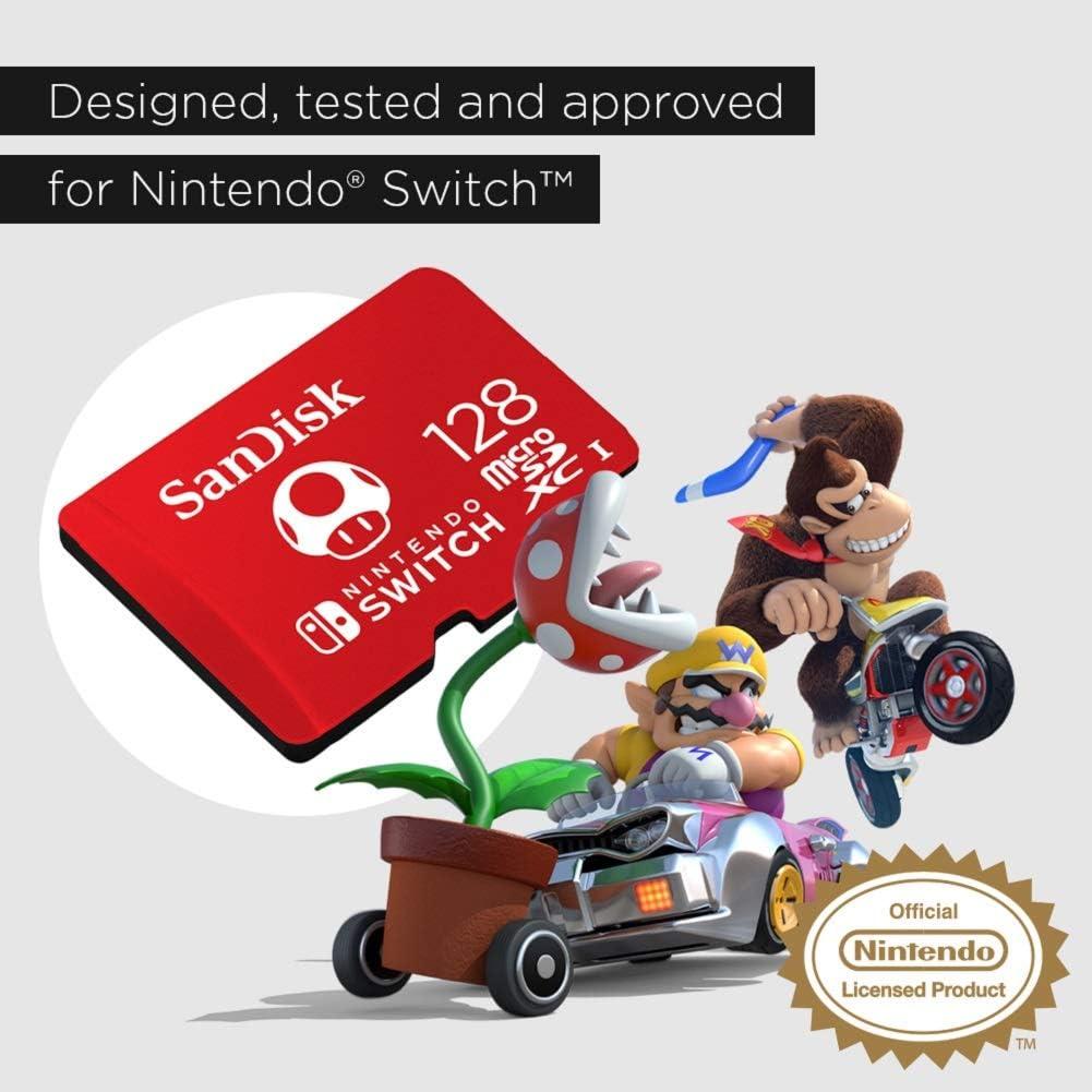 Tarjeta SanDisk microSDXC UHS-I para Nintendo Switch 128GB, Producto con Licencia de Nintendo: Sandisk: Amazon.es: Informática