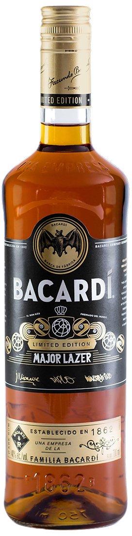 Bacardi Limited Edition Major Lazer Premium Gold Rum, 70 cl