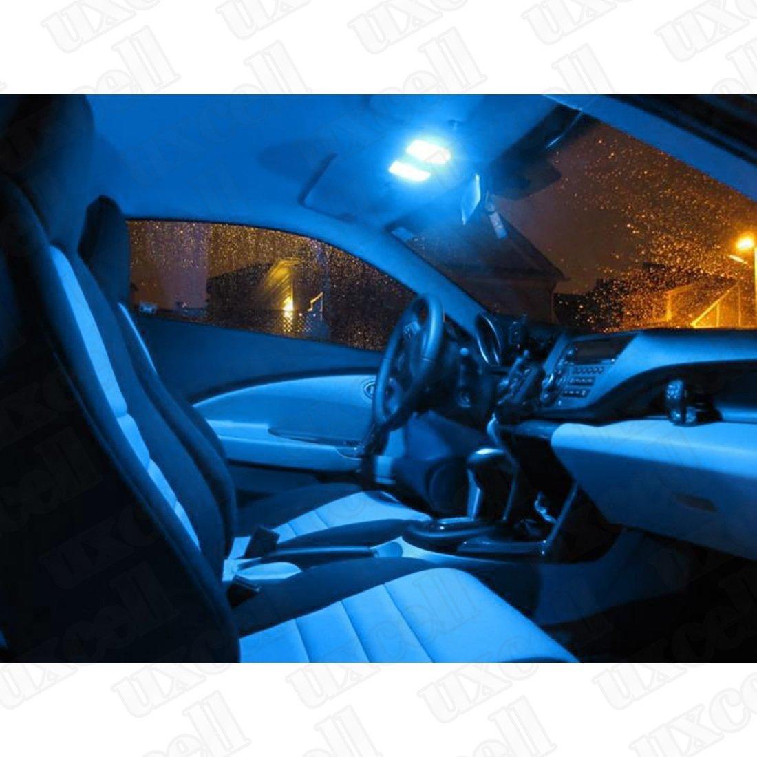 Amazon.com: eDealMax 8 x 31 mm 12-SMD 31mm bóveda del Adorno Bombilla de luz LED Azul DE3175 DE3022: Automotive