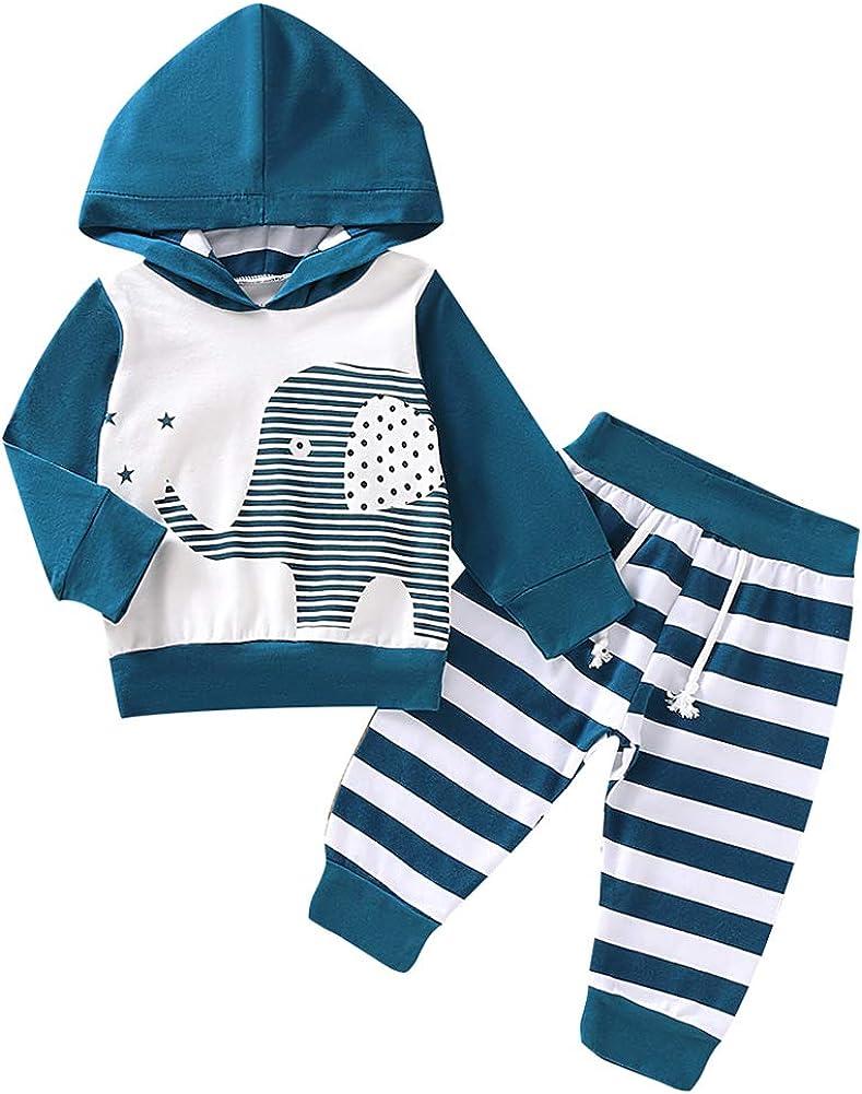 3-24 Months Baby Halloween Cartoon Hooded Jacket Pants Set Toddler Baby Boys Cartoon Skull Print Hoodie Long Sleeve Tops Striped Pants Outfits