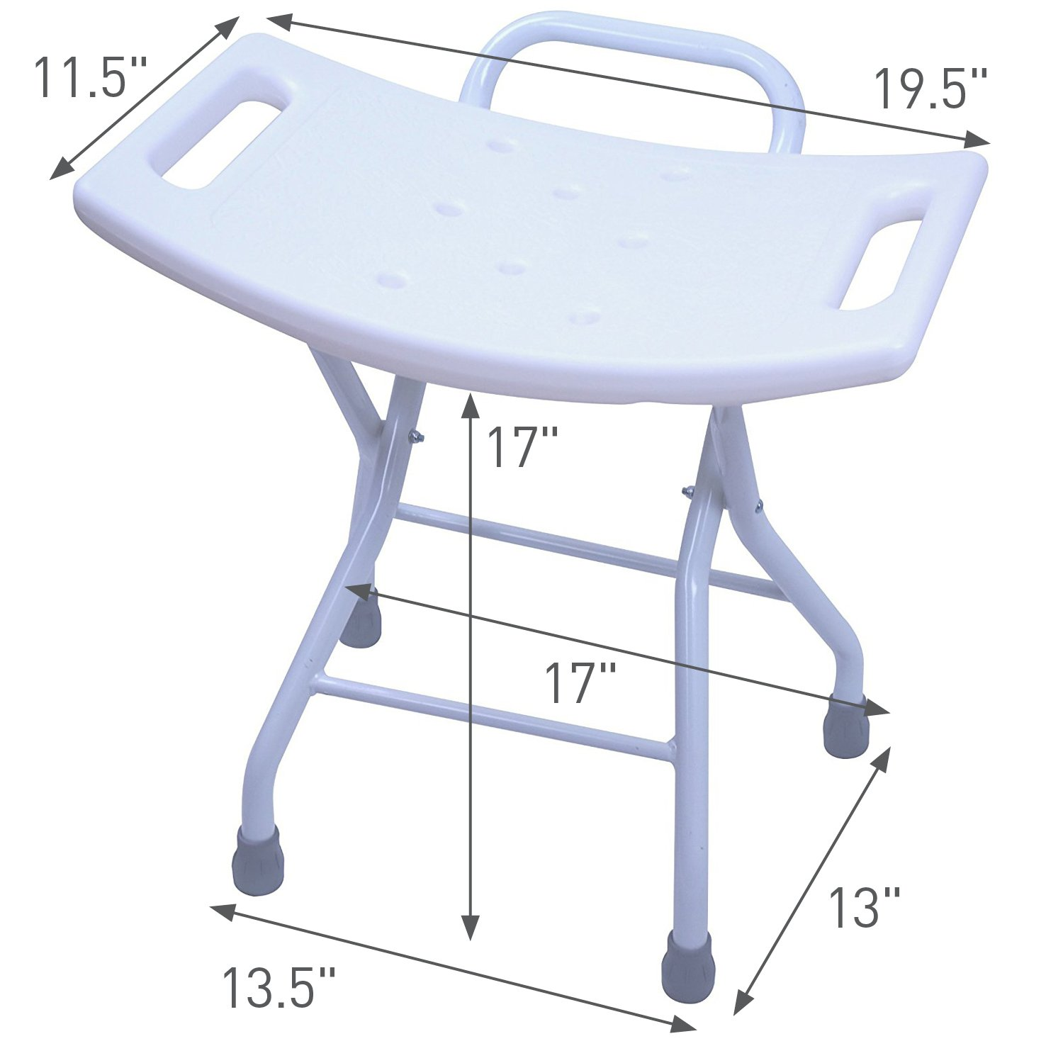 Terrific Folding Shower Seat Stool Portable Assist Bath Bench Chair With Hand Grab For Seniors Disabled Or Home Care Comfort By Brightcare Pdpeps Interior Chair Design Pdpepsorg