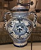 Arte Italica Blue Ceramic Hand Painted Italian Vase - 16'' Wide X 19'' Tall
