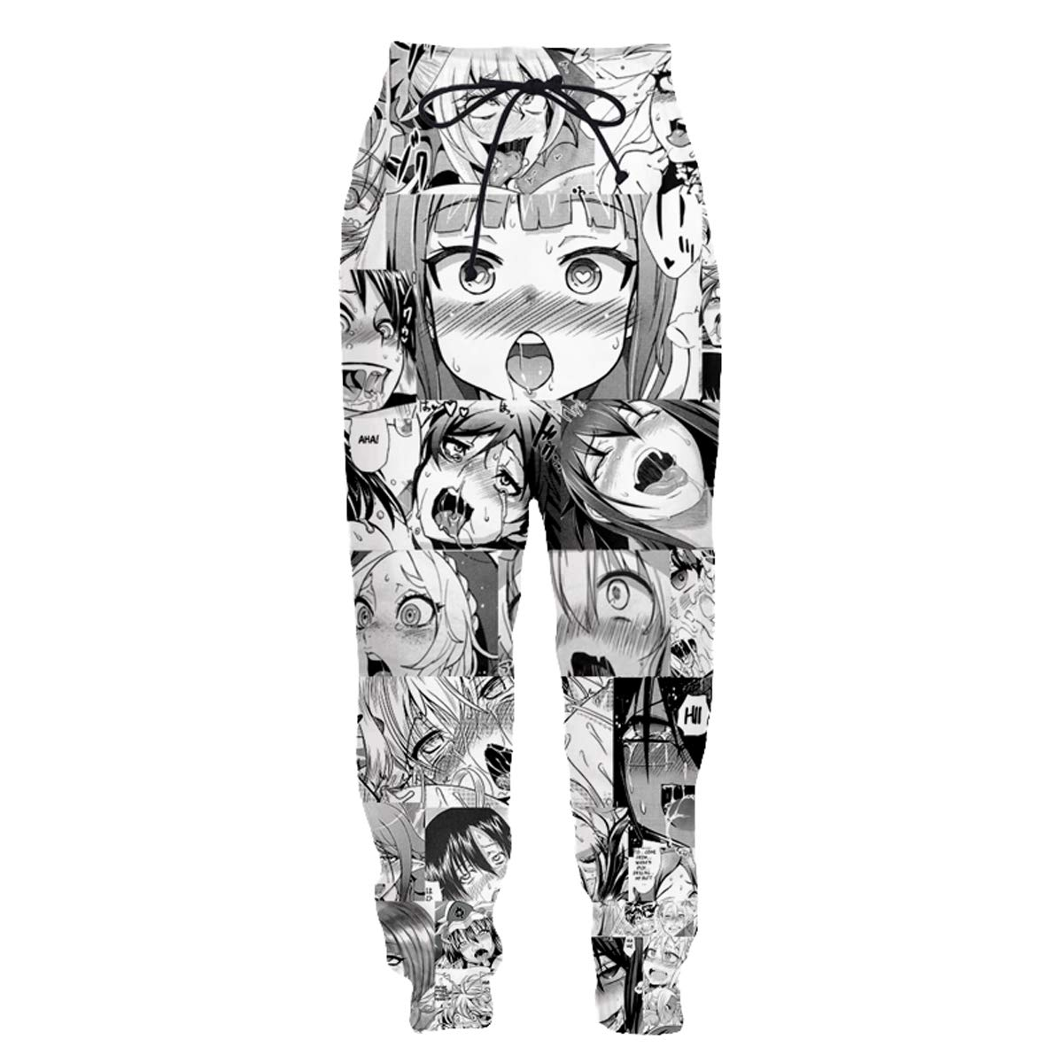 YX GIRL Unisex 3D Printed Casual Ahegao 3D Fashion Men and Women' s Fashion Funny Pullover Hoodie Sweatshirts