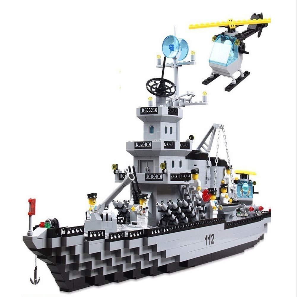 Yyz ミリタリーシリーズ ビルディングブロック 小さな粒子 組み立て 航空機キャリアモデル 子供用 おもちゃ クルーズ船 誕生日ギフト   B07QN6Q7LD